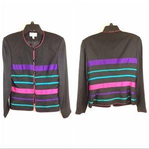 Adrianna Papell 100% silk blazer, size-8